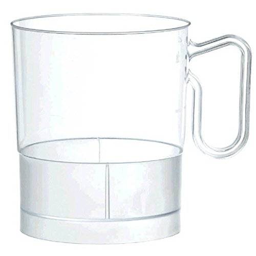 Clear Plastic Coffee Cups | 8 oz. | Party Supply | 120 ct.