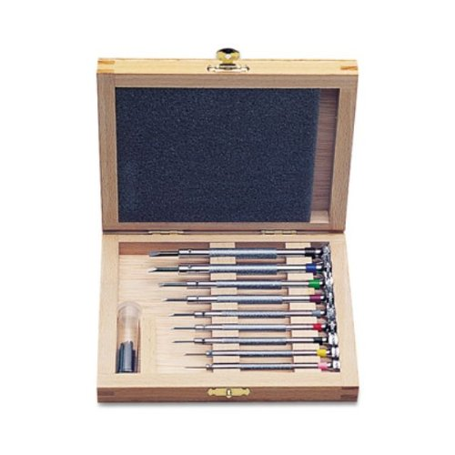 Set-screw Screwdriver Set in Wooden Box, 9 Piece | SCR-989.00