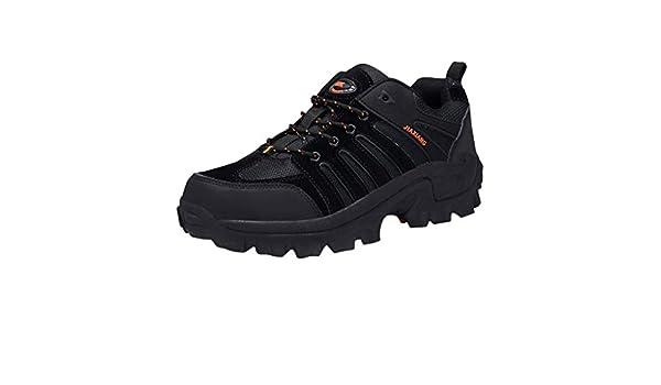 Zapatillas de senderismo para hombre, ligeras, para exteriores, para trekking, senderismo, neopreno, zapatillas de deporte, zapatillas veganas, zapatos de montaña, zapatos de trekking, zapatos altos, Mujer, Negro , 44: Amazon.es: Deportes y