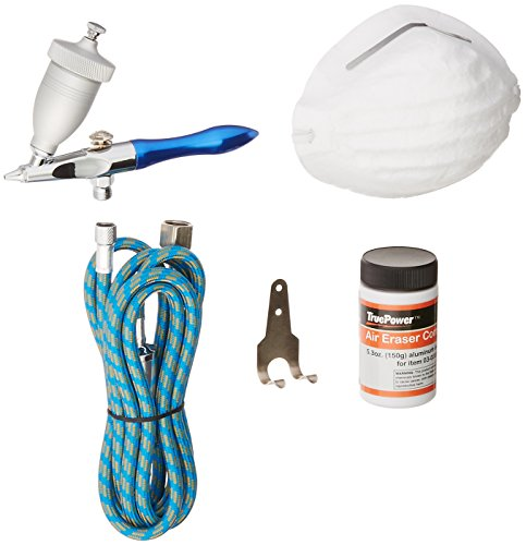 TruePower Air Eraser, Airbrush Sandblaster, Abrasive Sprayer and Glass Etcher Kit