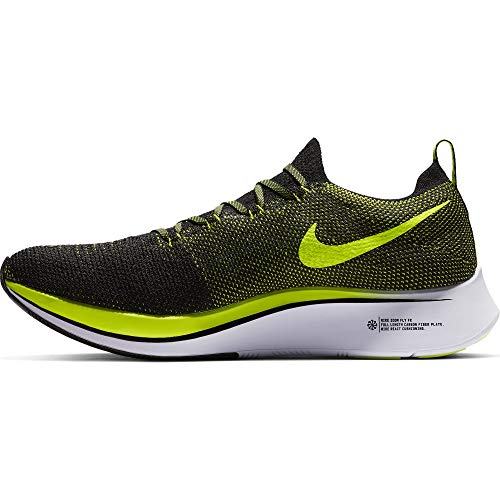 Nike Zoom Fly Flyknit Men's Running Shoe Black/Black-Volt-White Size 8 by Nike (Image #1)