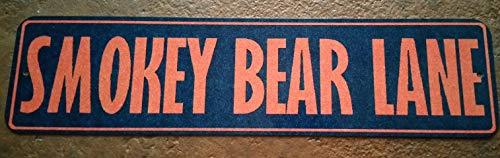 Smokey Bear Lane Sign! Fire Danger! 3