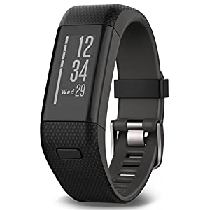 Garmin Vivosmart HR+ Fitness Band GPS con Schermo Touch, Smart Notification e Monitoraggio Cardiaco al Polso 14 spesavip