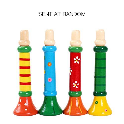 Horn Girl Instruments (Festnight Kids Musical Instrument, Wooden Educational Music Toy Gift for Children Baby Girls Boys (Horn))