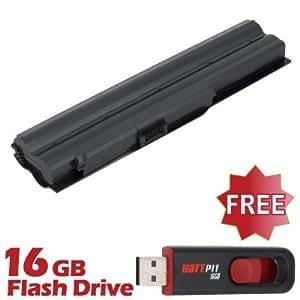 Battpit Bateria de repuesto para portátiles Sony VPCZ118GX (4400mah) Con memoria USB de 16GB GRATUITA