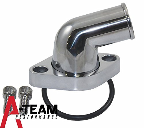 A-Team Performance SBC BBC CHEVY 15° SWIVEL POLISHED WATER NECK THERMOSTAT HOUSING 283 302 305 327 350 383 396 427 454 502