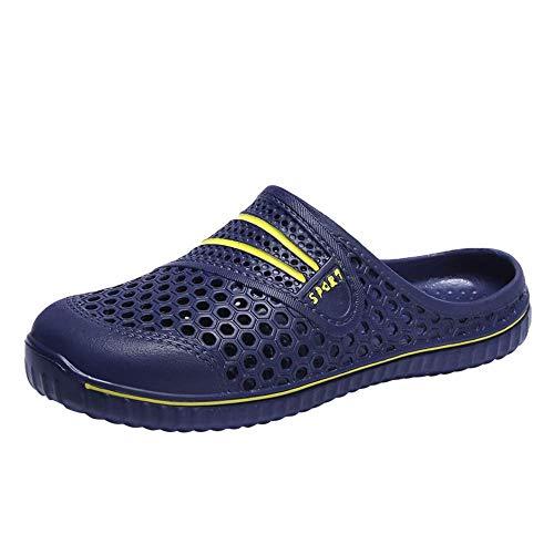 jia Garden Shoes Sandals Women Men Quick Drying Clogs Slippers Non SlipWalking Lightweight Rain Summer-Blackwhite-7 (7, Blue)