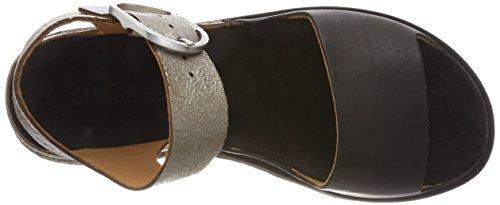 Caviglia con Argento Amsterdam 0020 Silver alla Cinturino Donna Shabbies Shabbies Black Sandali xatqFtY