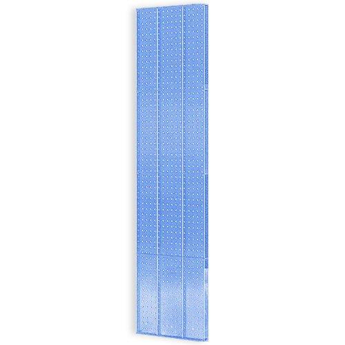 Azar 771660-BLU 16-Inch W by 60-Inch H Blue Pegboard Wall Panel, 2-Piece Set, Blue by Azar