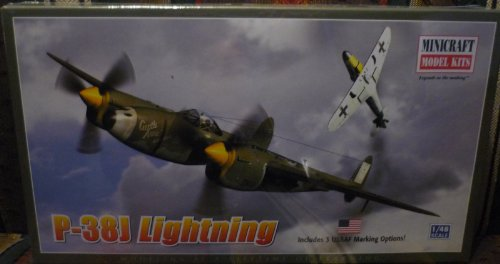 Minicraft Models P-38J Lightning USAAF, ETO 1/48 Scale