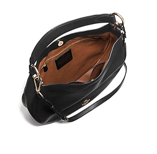 F36026 LEATHER COACH NOMAD IN GLOVETANNED HOBO BLACK qXxzwBH