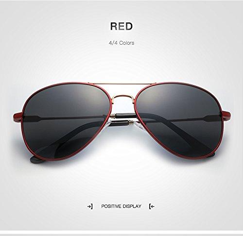 Men Oro de Gafas Luxury de Hombres de para Color Gafas Sunglass Red diseñador Retro Gafas Sol Yao Sol Polarized Aviation Red de Hombre Marca para conducción OYqtcp