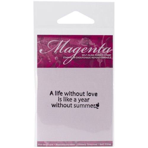Magenta Cling Stamps, 1 by 2-Inch, A Life without ()