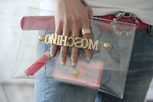 zarapack - Cartera de mano para mujer, Style 3 (Transparente) - BA924 Style 2