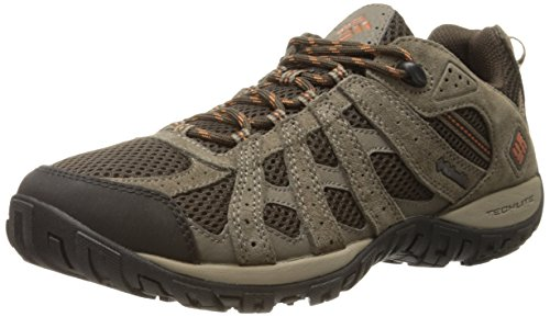 Columbia Men's Redmond Low Hiking Shoe, Cordovan/Dark, 10.5 M US