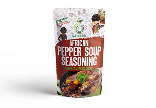 Iya Foods Authentic Pepper Soup Seasoning 2 ounces, No Preservatives, No Added Color, No Additives, No - Soup Fish Mix