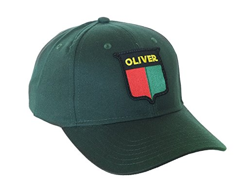 J&D Productions Vintage Oliver Split Shield Logo Green Hat with Solid (Shield Logo Cap)