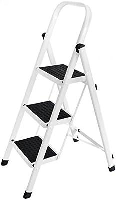 SjYsXm-Step ladder Escaleras Plegables Blancas - Escalera de ...