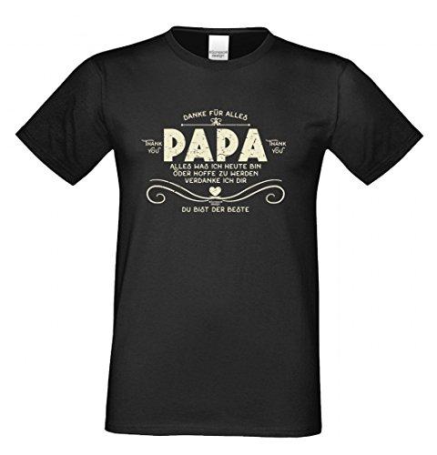 T-Shirt als Geschenk für den Vater - Du bist der Beste - Funshirt für den Papa mit Humor zum Vatertag oder einfach so, Größe 3XL Farbe 01-Schwarz