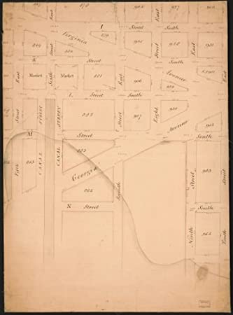 Se Dc Map.Amazon Com 1790 Map Of Part Of S E Washington D C Now Occupied By