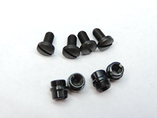 LOT OF 4 Black Grip Screws & 4 Bushings ... M1911 1911 Clones 1911A1 Fits these and all other standard 1911 .45 .38 Super & 9mm: Colt Kimber Ace Ruger Smith & Wesson S&W Remington Ed Brown Springfield Taurus Tactical Solutions Sig Sauer Nighthawk Wilson Combat Les Baer Rock Island Armscor STI Para Bul Dan Wesson... (Gun Taurus Parts)