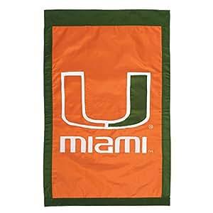 Evergreen Scientific Universidad de Miami Huracanes NCAA con Licencia casa Bandera