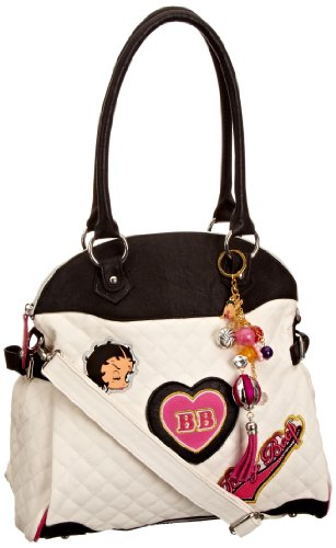 Betty Boop Girl Time, Damen Handtasche White
