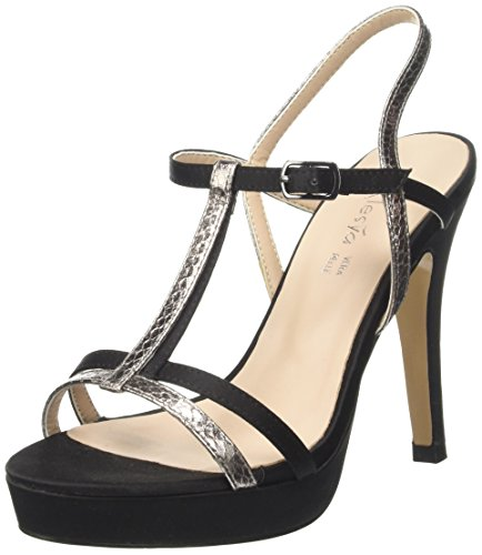 Alesya Straps Heeled Scarpe High Black Sandals amp;Scarpe with vrvqFAw