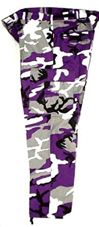ec69d6ca Amazon.com: Small ADULT Camo Vikings/Ravens (Colors) Purple, Black ...