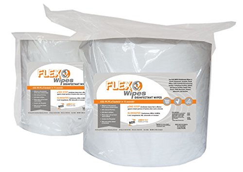 Ironcompany.com Kleen Machine Flex Wipes Disinfecting Gym Equipment Wipes - Refill Rolls (800 Count) - FlexWipes Disinfectant Wipes to Kill Bacteria and Odors by Ironcompany.com (Image #1)