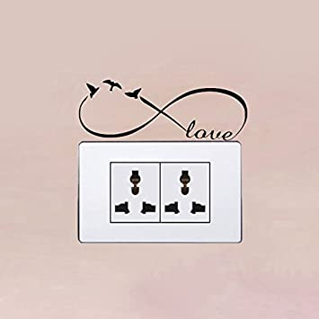 2 Pc Wand Aufkleber Liebe Infinity Symbol Aufkleber Vogel