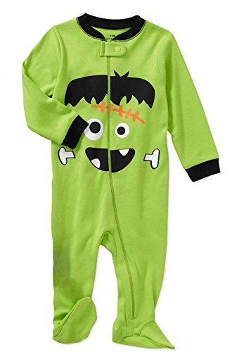 Frankenstein Outfit (Baby Boys Frankenstein Halloween Footed Bodysuit Outfit Sleep and Play (Newborn))