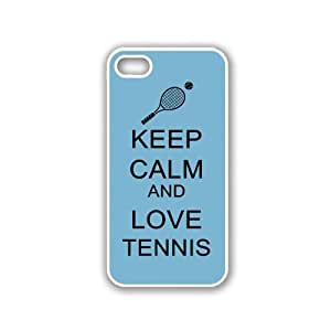 Keep Calm And Love Tennis - Coral Floral - Protective Designer BLACK Case - Fits Apple iPhone 5 / 5S