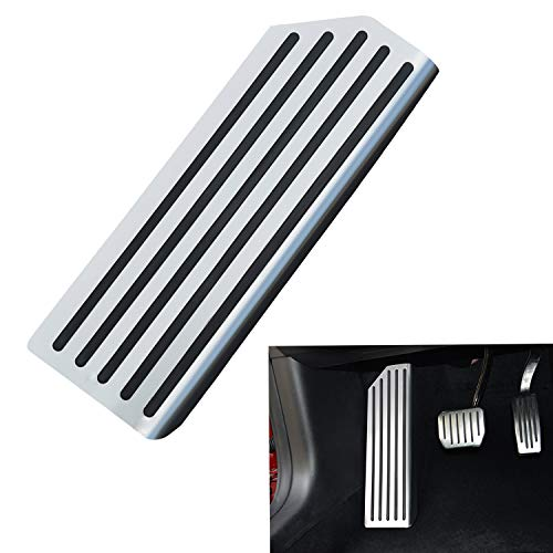 - topfit Model 3 Dead Pedal Cover,Auto Aluminium Left Foot Rest Pedal Compatible Tesla Model 3