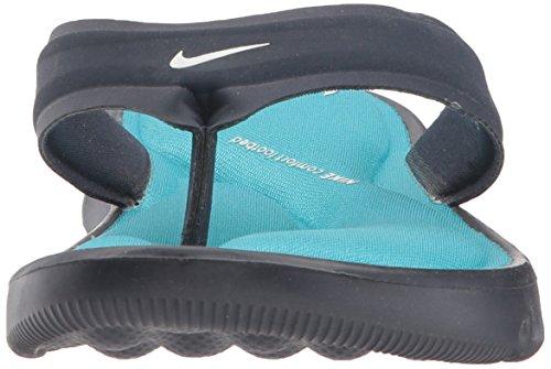 NIKE Women's Ultra Comfort Thong Sandal, Obsidian/White/Chlorine Blue, 8 B(M) US - Image 4