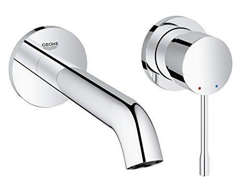 GROHE 19408001 Essence Wall-mounted 2-Hole Basin Tap, Final assembly set (Concealed Body Not included)