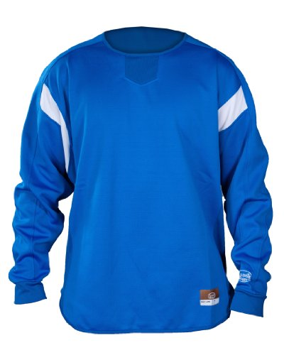 Louisville Slugger Youth Slugger Dug-Out Cold Weather Thermal-Tech Pull-Over, Royal, (Youth Dugout Jacket)