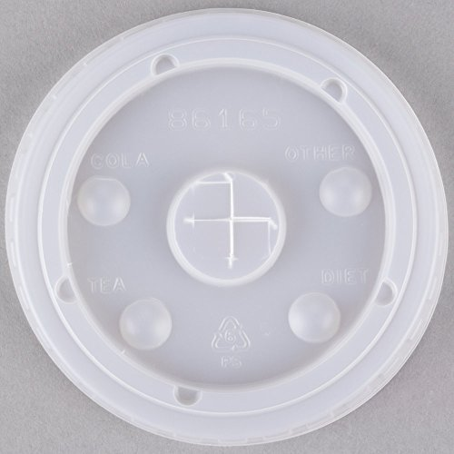 Dart Solo 636TS Clear Plastic Lid with Straw Slot 50/Pack (Down Home Lemonade Stand)
