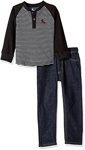 American Hawk Little Boys' Sweatshirt and Pant Set (More Styles Available), Stripe-SL91, 5/6