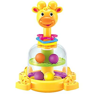 Baby Rattle KAWO Fun Cartoon Early Educational Handle and Spin Carousel Toy Gift for Infant by KAWO that we recomend personally.
