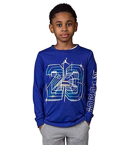 Jordan Nike Air Jumpman Big Boys' Long Sleeve Shirt (Medium/10-12 Yrs, Purple) -