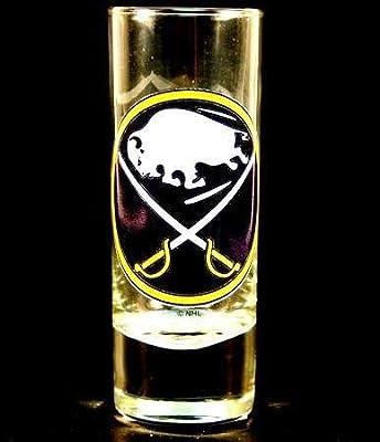Buffalo Sabres NHL Licensed Glass Cordial Logo Hype Shot Glass (2 Oz.) Team Logo