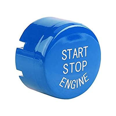 Acouto Car Engine One-Button Start Button, ABS Push Button Switches for F30 G/F Disk Bottom with Start&Stop (Blue): Automotive