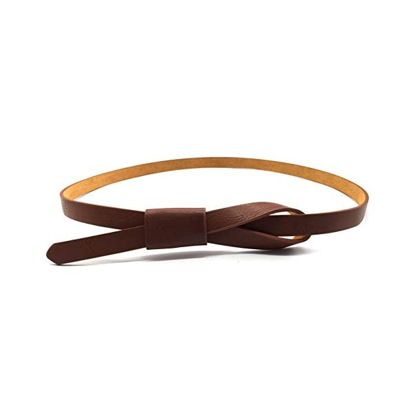 Womens Adjustable Leather Belts Fashion Skinny Minimalism Waist Strap 7 Colors