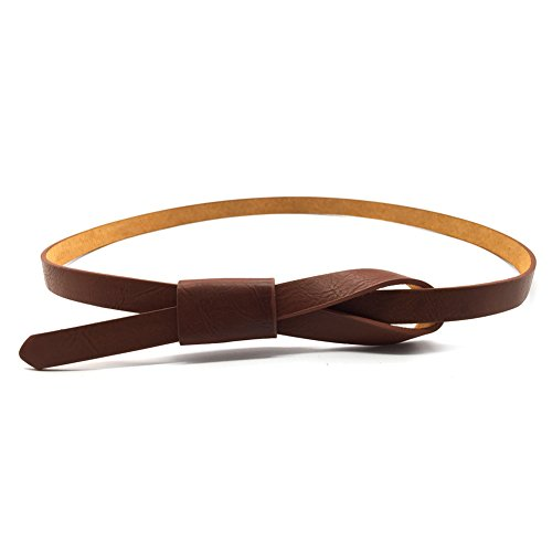 - Womens Adjustable Leather Belts Fashion Skinny Minimalism Waist Strap 7 Colors