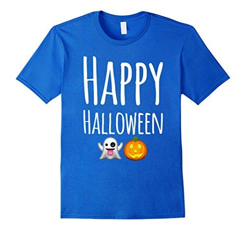 Mens Emoji - Happy Halloween - 2017 T-Shirts - Cute Adorable 2XL Royal (Halloween Humour 2017)