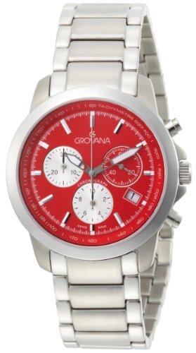 Grovana Men's 1580.9136 Chronograph Quartz Red Dial Watch