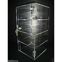 "305 Displays Acrylic Countertop Display Case 8"" x 8"" x 16"" Locking Security Showcase"