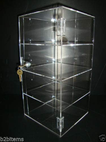 305 Displays Acrylic Countertop Display Case 8'' x 8'' x 16'' Locking Security Showcase