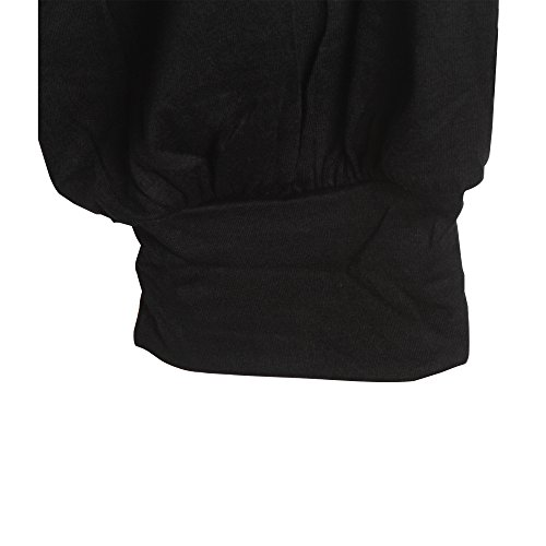 Sidiou Group Nuevo Pantalón de Modal ultra suave por mujeres, 3/4 longitud de Harem Yoga Pantalón cómodo holgado negro